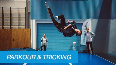 AirTracky pro Parkour a Tricking